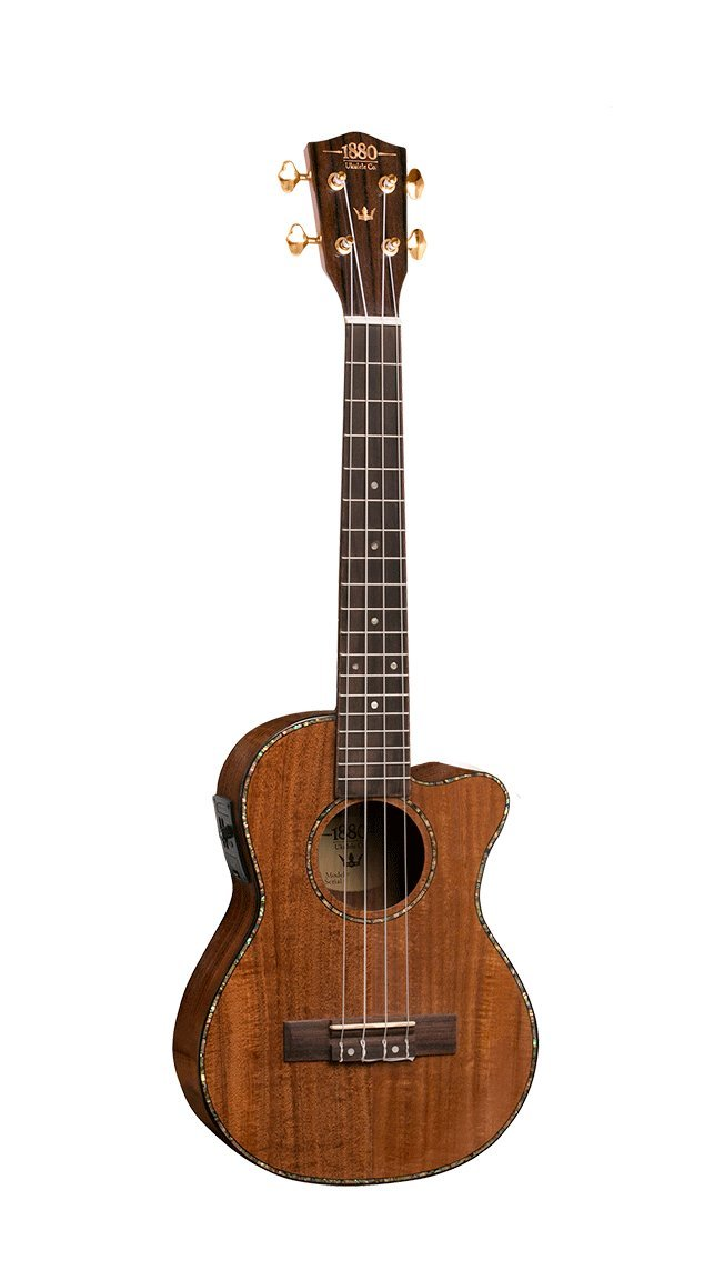 1880 Concert Ukulele - 300 Series Koa Electric/Acoustic