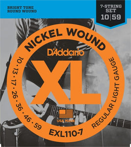 D'Addario NW (7) Electric Guitar Strings