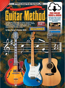 Progressive Guitar Method 1 Book/Online Video & Audio Book