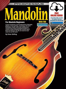 Progressive Mandolin for Beginners Book/Online Video & Audio Book