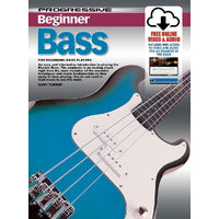 Progressive Beginner Bass Book/Online Video & Audio Book