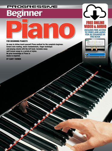 Progressive Beginner Piano Book/Online Video & Audio Book