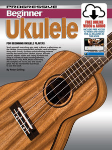 Progressive Beginner Ukulele Book/Online Video & Audio Book