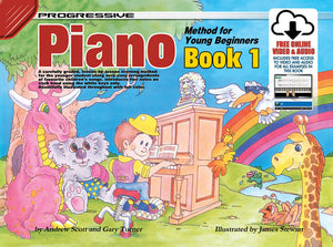 Progressive Piano Book 1 for Young Beginners Book/Online Video & Audio Book