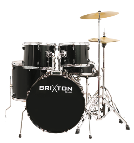 Brixton 5 Piece Drum Kit Package -Includes In store Assemble