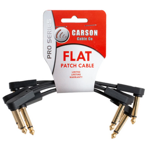 Carson Pro Flat Patch Cable - 4 Pack