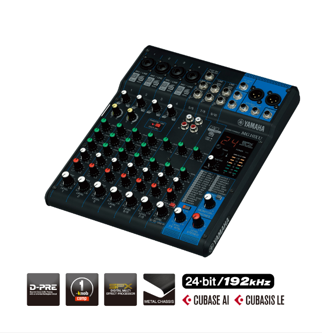 Yamaha Mixing Console MG10XU (with FX)