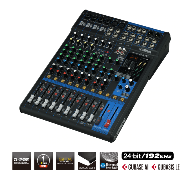 Yamaha Mixing Console MG12XU (with FX)