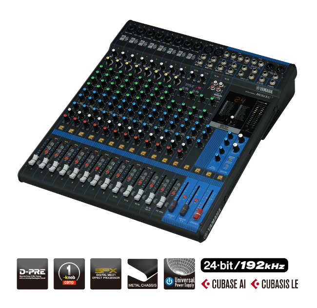 Yamaha Mixing Console MG16XU (with FX)