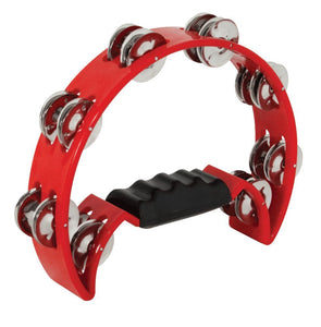 Mano Percussion Cutaway Tambourine (red)