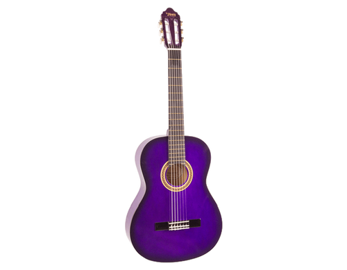 Valencia Full Size Nylon String Guitar - Purple Sunburst