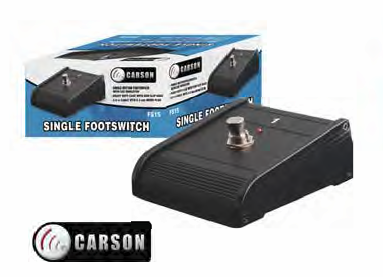 Carson Single Amplifier Footswitch
