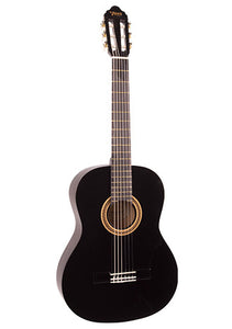 Valencia 1/2 Size Nylon String Guitar - Black