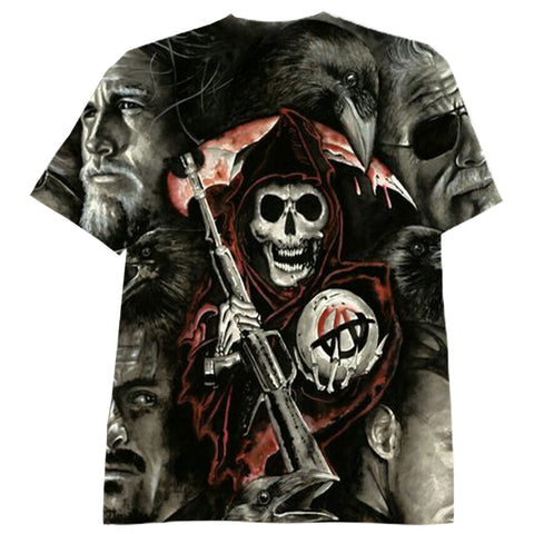 Sons Of Anarchy Over Frintful Tshirt 3D Sublimation Tee - Let Buy Now