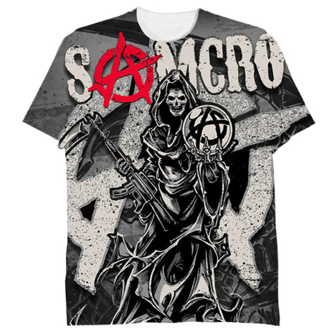 Sons Of Anarchy Logo 3D Tshirt  Sublimation Tee - Let Buy Now