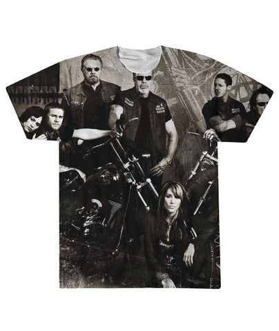 SOA Sons Of Anarchy 3D Tshirt  Sublimation Tee