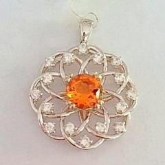 925 Sterling Silver Beautiful Citrine Pendant