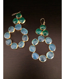 Natural Semiprecious Stone Earrings