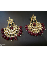Kundan Chandbali Earrings Pair