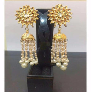 Ethnic Pearls Jhumkas Earrings Pair
