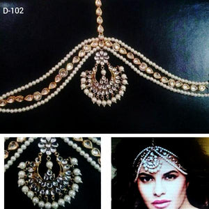 Bollywood Designer Pearls Mathapatti
