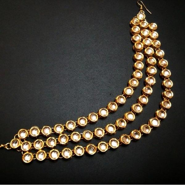 Elegant Looking Gold Color Mathapatti