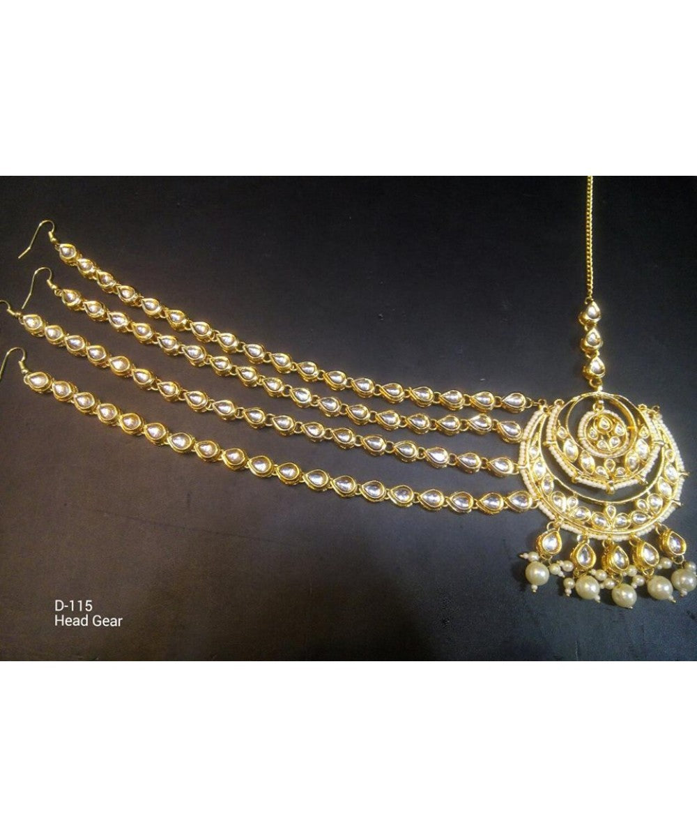 Gold Plated Kundan Mathapatti