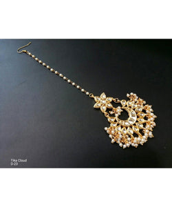 Copy of Gold Plated Kundan Maangtikka