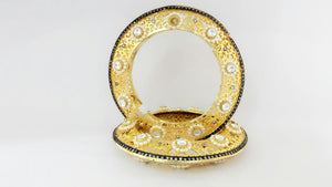 Gold Filigree Bangle Pair For Exquisite Look And Precious Occasion