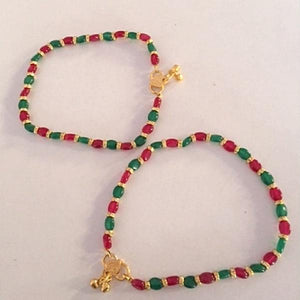 Bright And Colorful Anklets Pair
