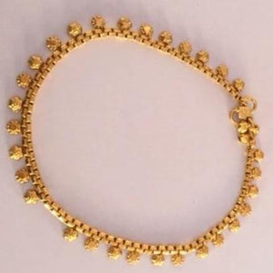 Gold Plated Anklets Pair