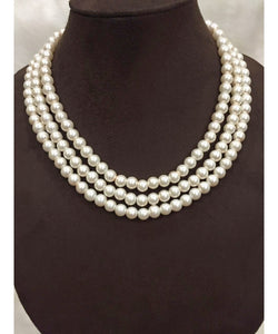 Classic Three Layered Pearls Necklace