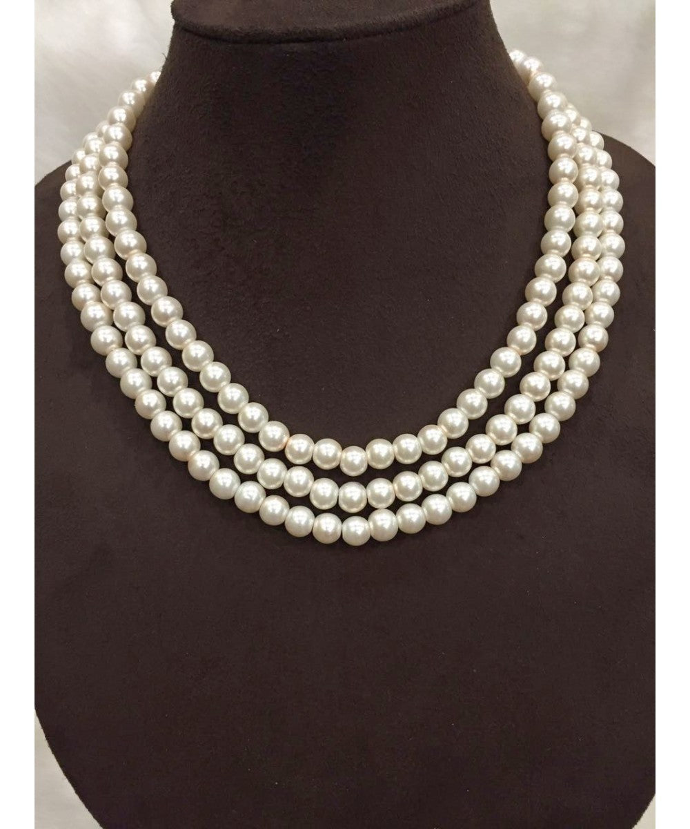 Three Layered Pearls Necklace