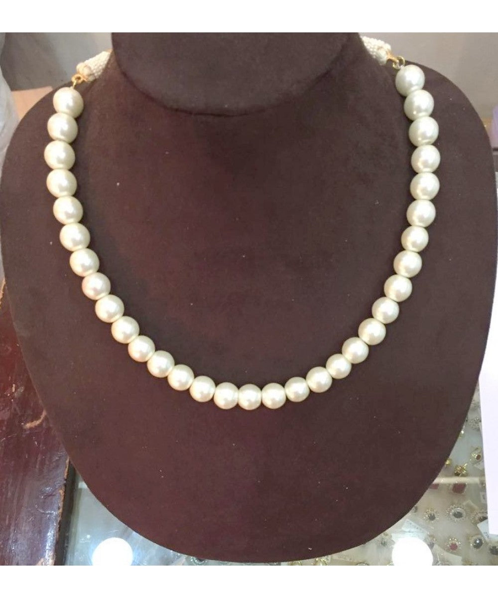 Single Line Pearls Necklace