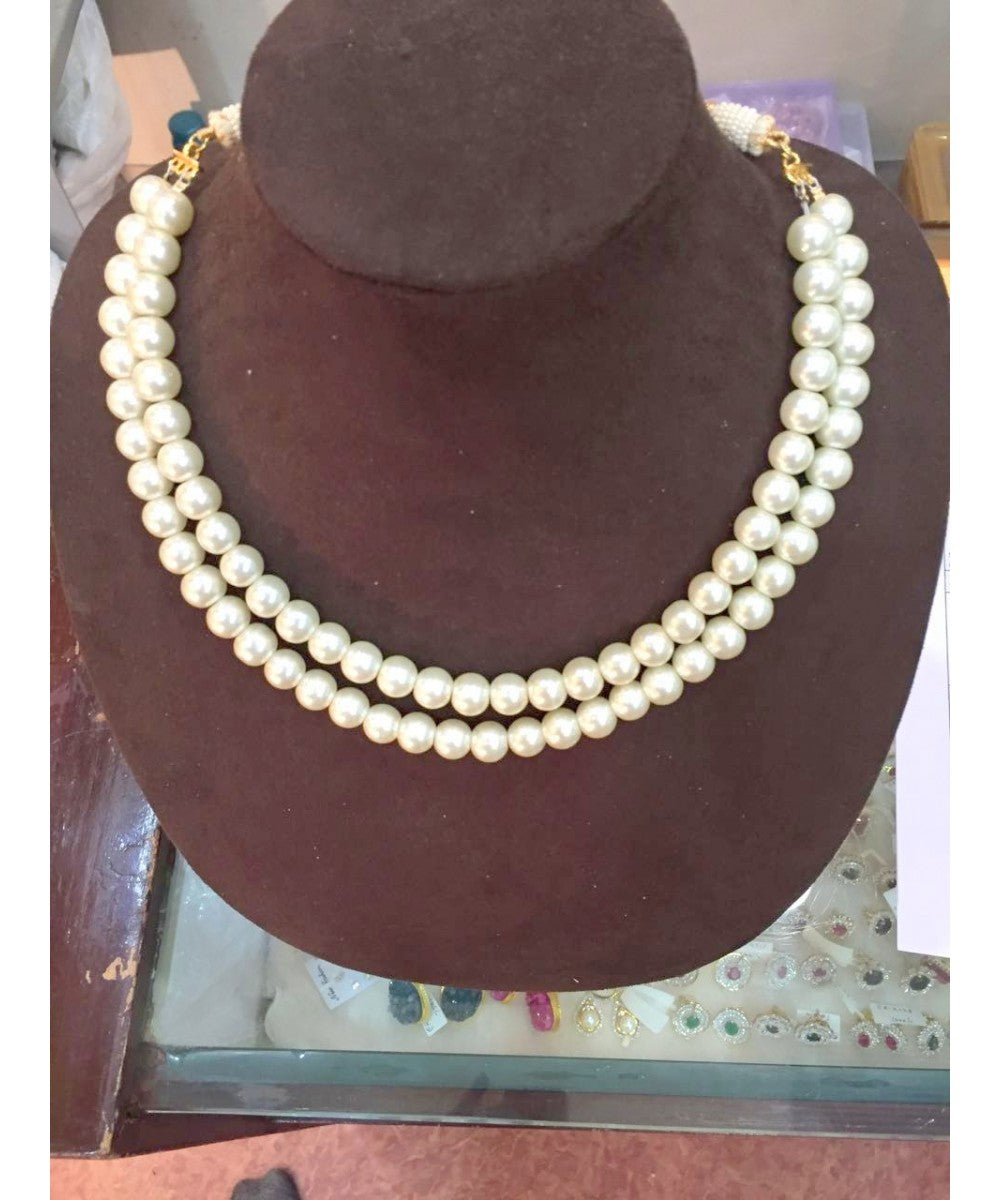 Two Layered Pearls Neckalce