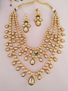 Classic Meenakari Work Bridal Necklace Set