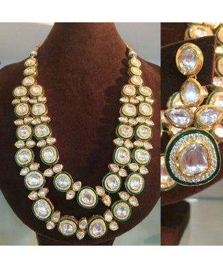 Meenakari Bridal Necklace With Matching Earrings