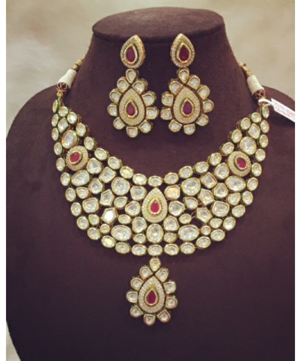 Exquisite Look Ruby Bridal Set