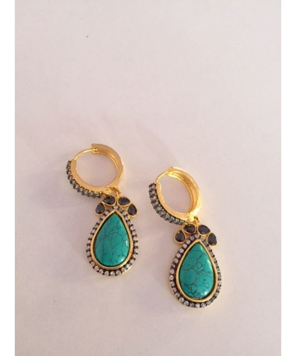 Designer Turquoise Earrings Pair