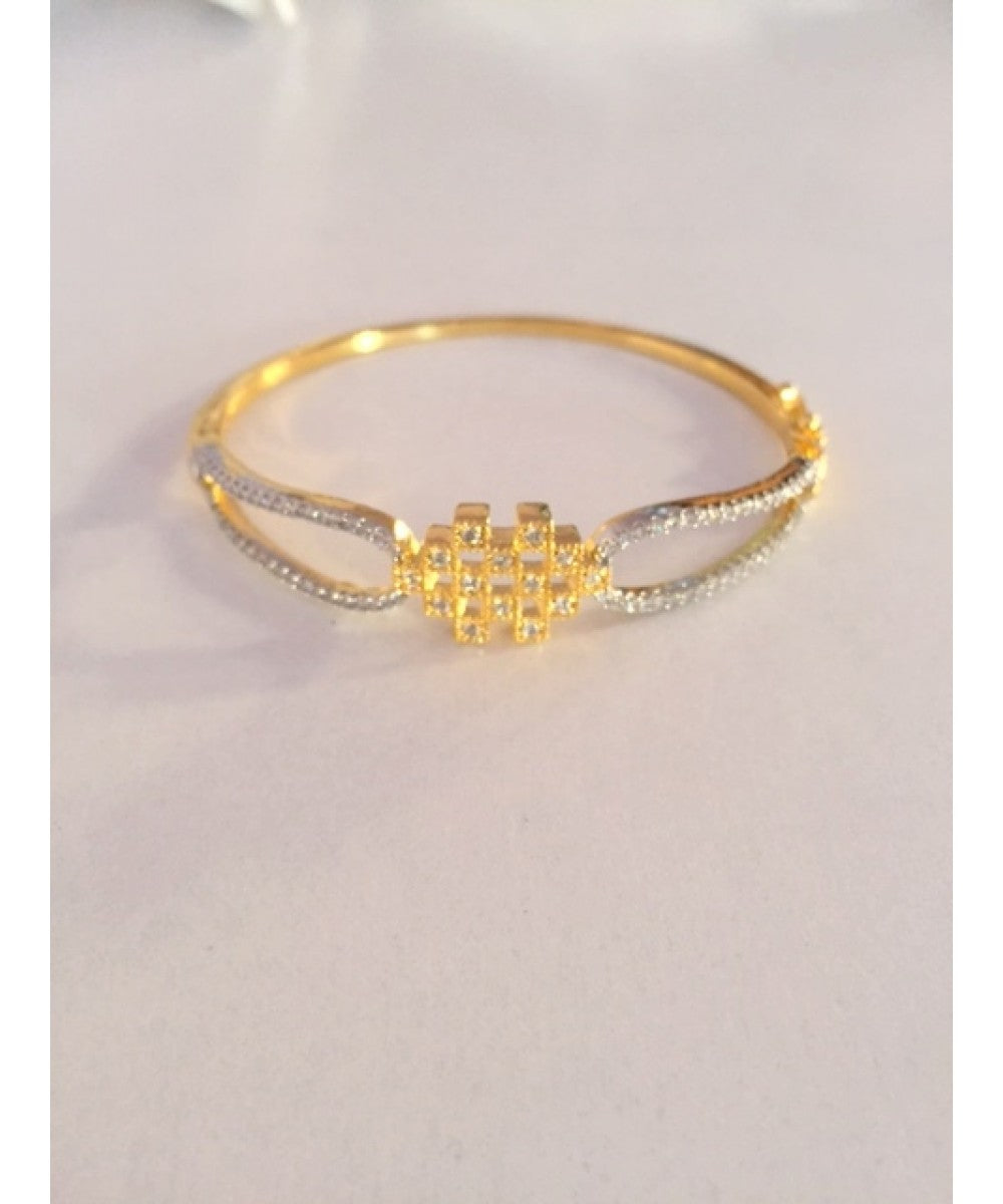 Glittering Gold Plated Diamond Look Bracelet