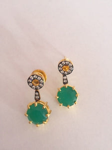 Bollywood Inspired Emerald Earring pair