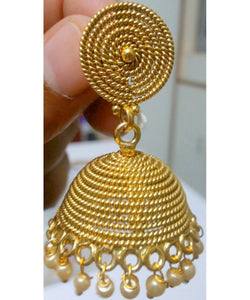 Fine Quality Gold Plated Jhumka Earrings Pair