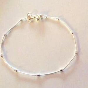 Traditional Silver Look Anklets