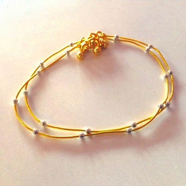Beautiful Gold Plated Anklet Pair