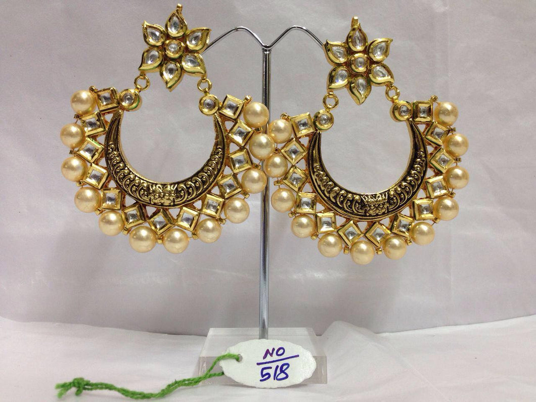 Classic Filigree Work Chandbali Earrings