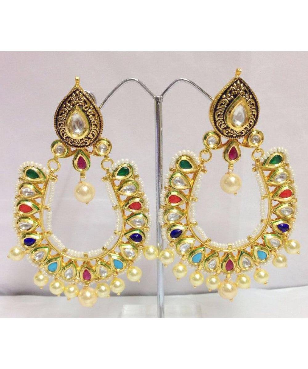 Navratana Earrings Pair