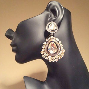 Bollywood Inspired Kundan Earrings Pair