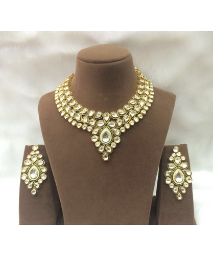 Finest Kundan Haar With Meenakari And Matching Earrings Pair