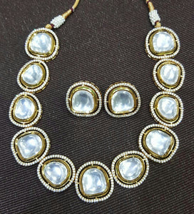 Large Size Polki Necklace Set