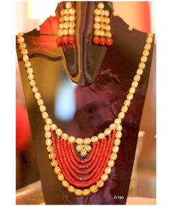 Beautiful Big Necklace With Matching Earrings